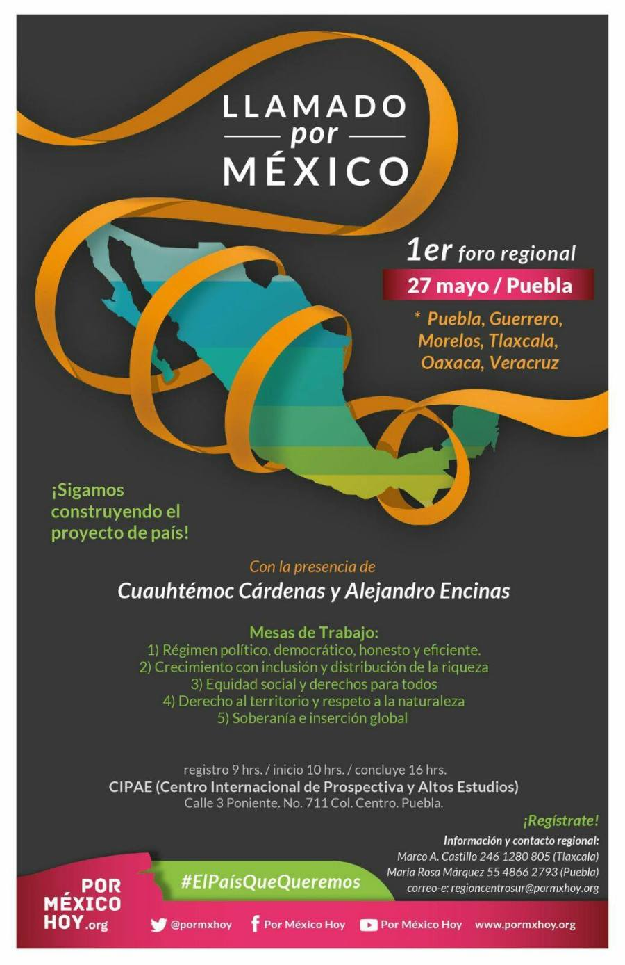 Cartel llamado por Mexico