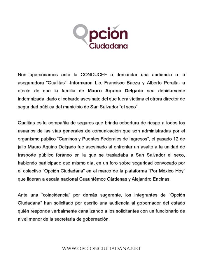 Boletin de Prensa - Mauro Aquino